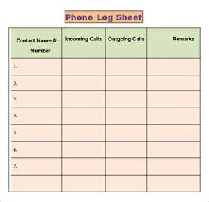 phone log template phone log template 8 free word pdf documents