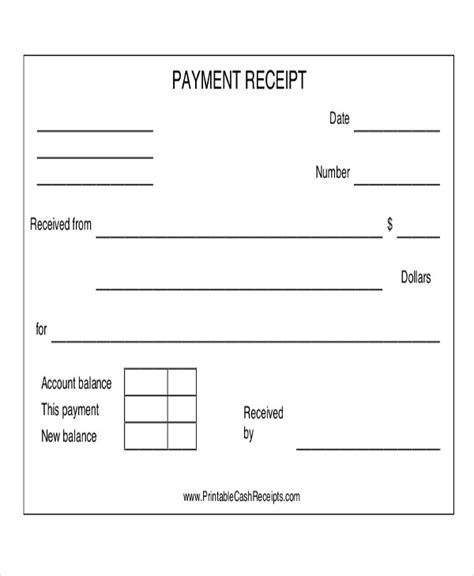 payment receipt acknowledgement 14 exles in word pdf
