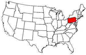 Pennsylvania On Us Map by Pennsylvania Map Of Usa