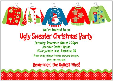 sweater invitation template free printable everything websites free