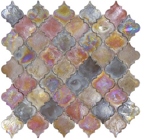 Arabesque mosaic tile bronze glass tile glossy tiles