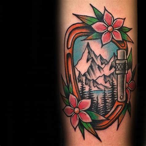 climbing tattoo 60 rock climbing tattoos for climber design ideas
