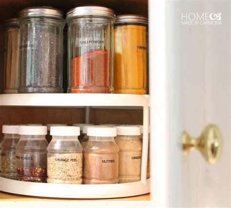 Spice Jar Storage Spice Cabinet Home Made By Carmona
