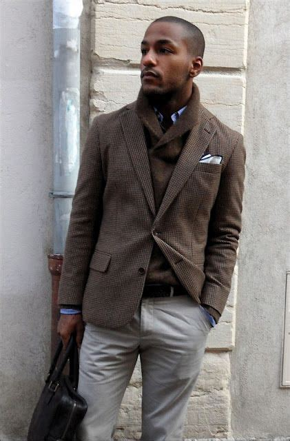 Shawl Jacket Khaki by Brown Wool Plaid Jacket Shawl Collar Sweater Khaki