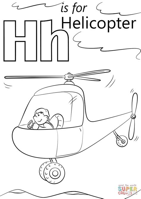 letter h coloring pages preschool letter h is for helicopters coloring page free printable