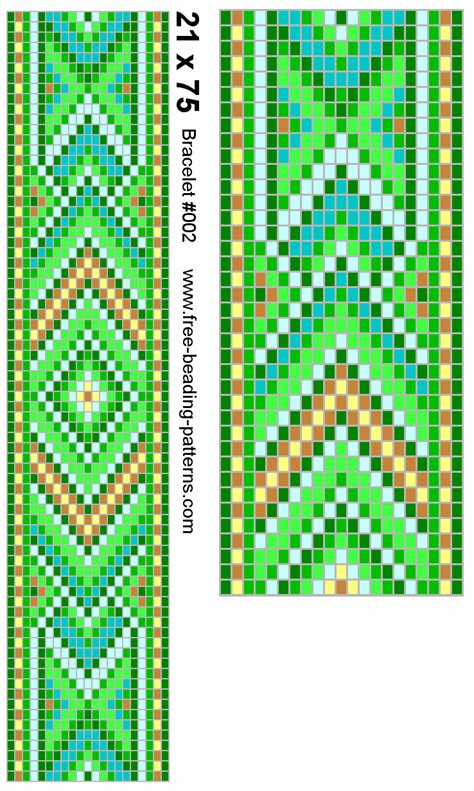 seed bead pattern beadwork
