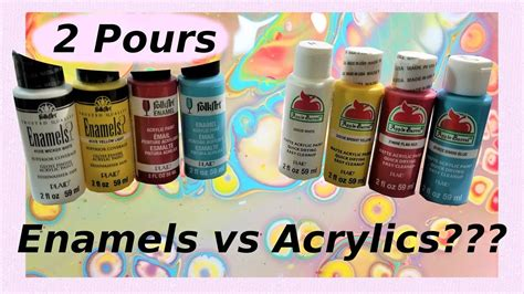 acrylic paint vs enamel paint pour painting enamel vs acrylic paint