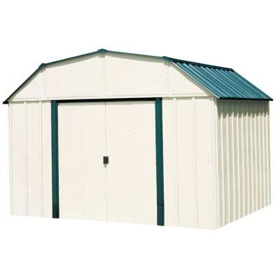 10x10 Storage Shed Home Depot by Arrow 10 Ft X 8 Ft Steel Storage Shed Vs108