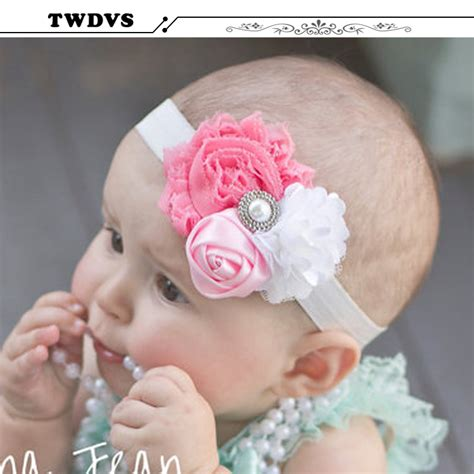 shiny hair accessories children baby beautiful twdvs baby beautiful pearl flower hair band baby