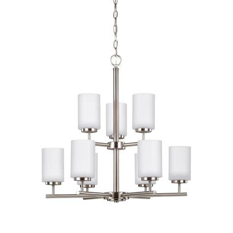 house oslo lighting sea gull lighting oslo 9 light brushed nickel chandelier