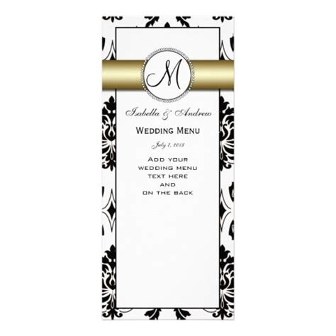 Black Damask Gold Wedding Menu Card See Best Ideas About Wedding Make Your Own And Make Your Black And Gold Menu Template