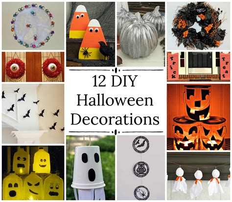 easy at home halloween decorations halloween decorations that you can make at home how to make halloween decorations for easy