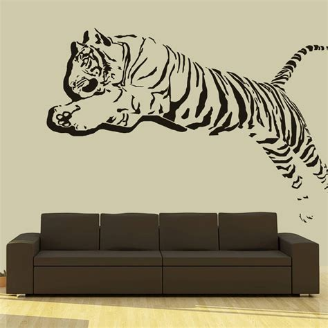 wall vinyl wall decal vinyl sticker 3d tiger lion leopard panter