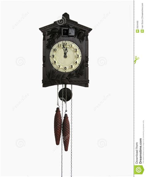 horloge a coucou coucou horloge de mur de cru photo libre de droits image 2924495