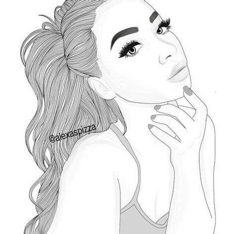 beautiful, black and white, draw, girl, illustration