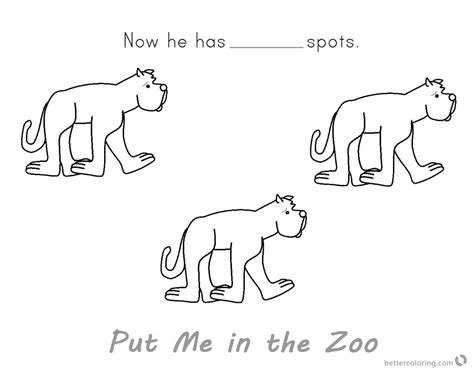 coloring page put me in the zoo put me in the zoo coloring pages he has no spot free