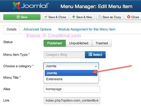 change category blog layout joomla 3 joomla 3 0 how to set menu item to show articles in