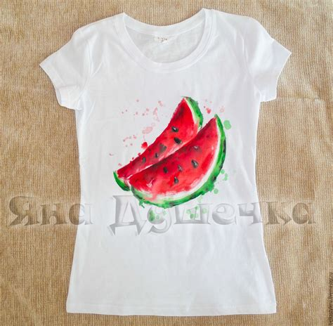 Tshirt Painted Roffico Cloth T Shirt Watermelon Painted Shop On