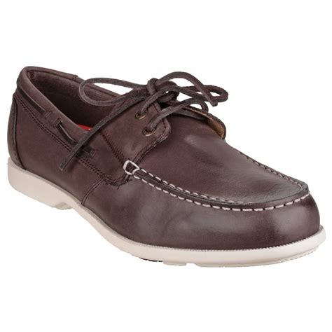 rockport mens summer sea ii leather boat shoes ebay
