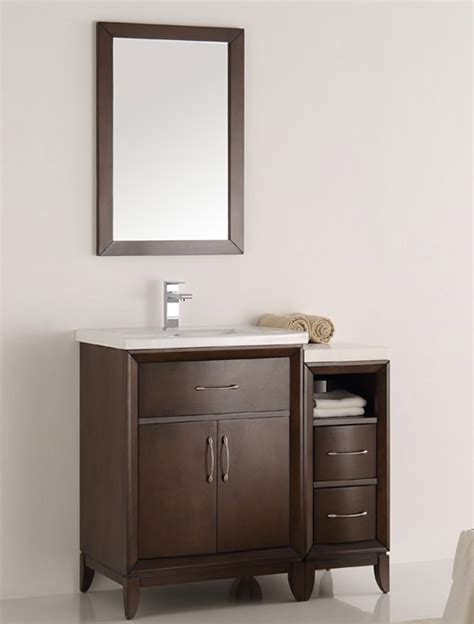 36 inch bathroom mirror 36 inch antique coffee finish traditional bathroom vanity
