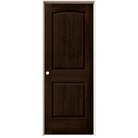 Espresso Closet Doors Jeld Wen 32 In X 80 In Santa Fe Espresso Stain Right Molded Composite Mdf Single Prehung