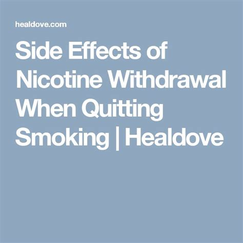 Effects Of Detoxing From by Best 10 Quitting Side Effects Ideas On