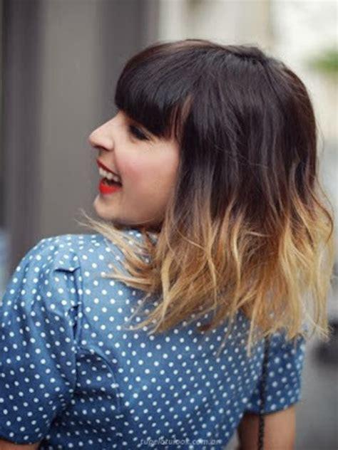 mechas californeanas en corte hombro cortes de moda archives mujer chic