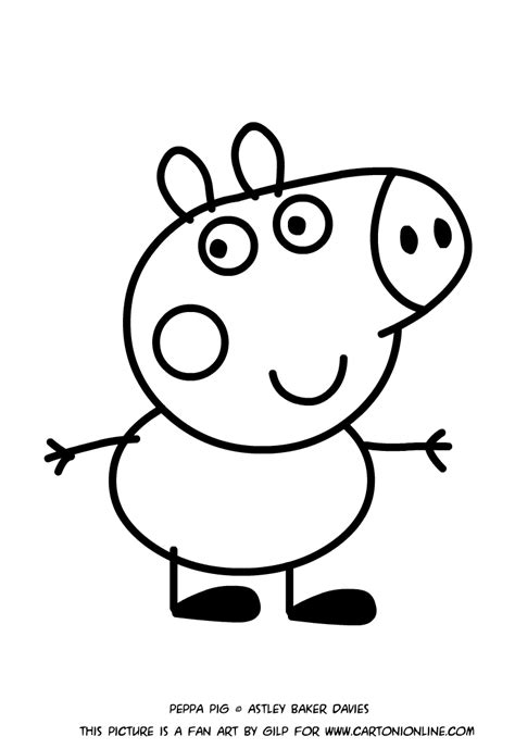 george pig coloring page george pig coloring pages