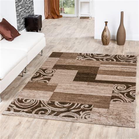 wohnzimmerteppich beige teppich g 252 nstig patchwork design modern wohnzimmerteppich