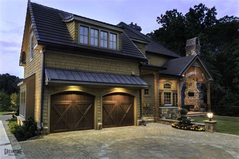 exterior home innovation design carriage doors to complete the old world courtyard