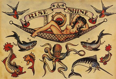 sailor jerry tattoo art flash 18 13 x 19 photo print ebay