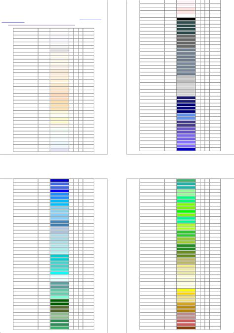 rgb color table rgb color selection table for free tidytemplates