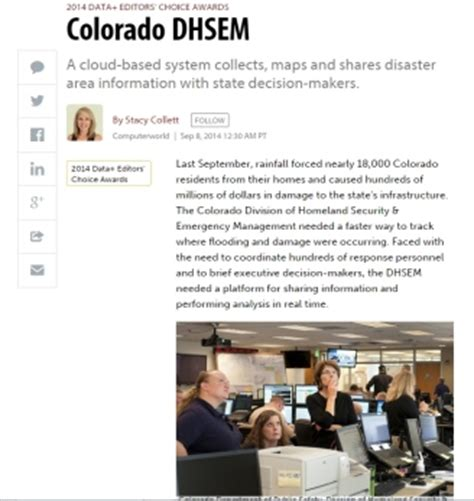 coverage of the case of colorado dhsem in computerworld.
