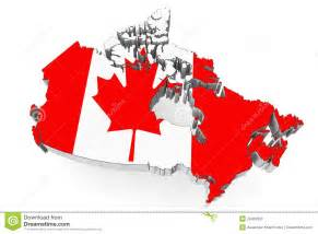 canada flag map canada map with flag royalty free stock images image