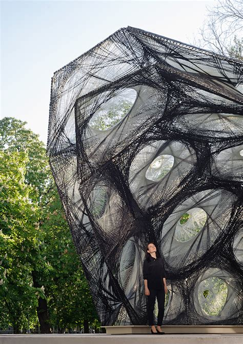 pavillon stuttgart biomimetic pavilion in stuttgart fubiz media