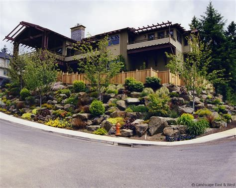 sloping lot retaining walls for portland landscaping sloped lots by