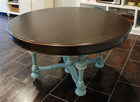 Painted Dining Table Chalk Paint Dining Table Uniquely Yours Or Mine