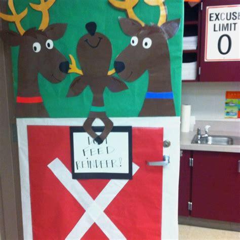 Reindeer Door Decorations by Reindeer For A Classroom Door Just B Cause
