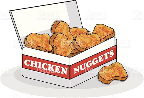 Nuget Cutel chicken nuggets stock vector more images of breaded chicken 480520651 istock