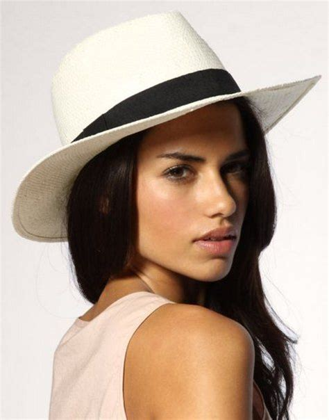 fashion style white wide brimmed classic straw fedora hat