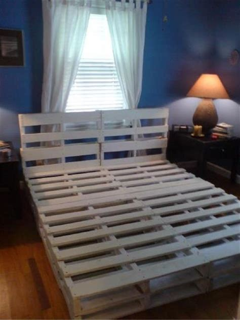 bed frame from pallets pallet furniture diy crafts directory of free projects