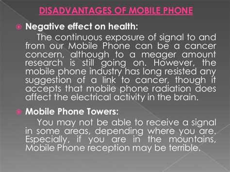 Advantages Of Cell Phones Essay by Advantages And Disadvantages Of Mobile Phone