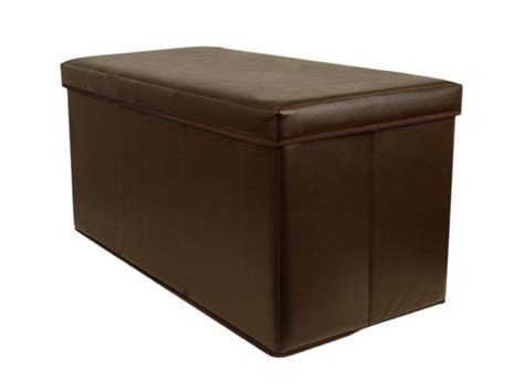 folding c stool with storage large 2 seater faux leather ottoman folding storage