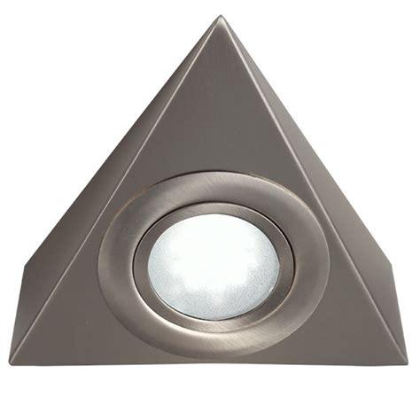 knightsbridge mini triangular brushed chrome led