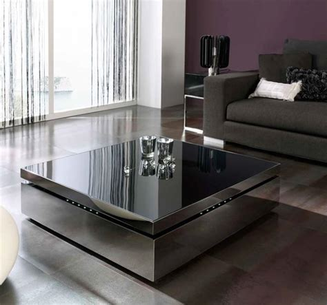 Raf Contemporary Coffee Table With Elevating Glass Top Elevating Coffee Table