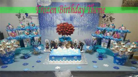 frozen birthday theme party ideas mlk althlj frozn youtube