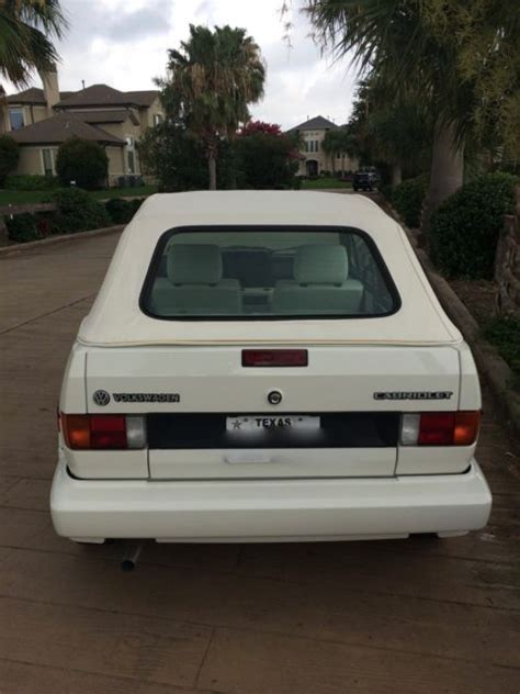 white convertible volkswagen cabriolet 1992 volkswagen cabriolet quot wolfsburg quot white