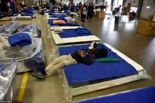 mattress shop becomes shelter for hurricane harvey victims