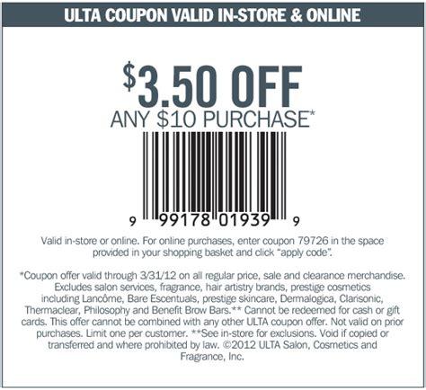 ulta printable discount coupons ulta beauty 3 50 off 10 printable coupon