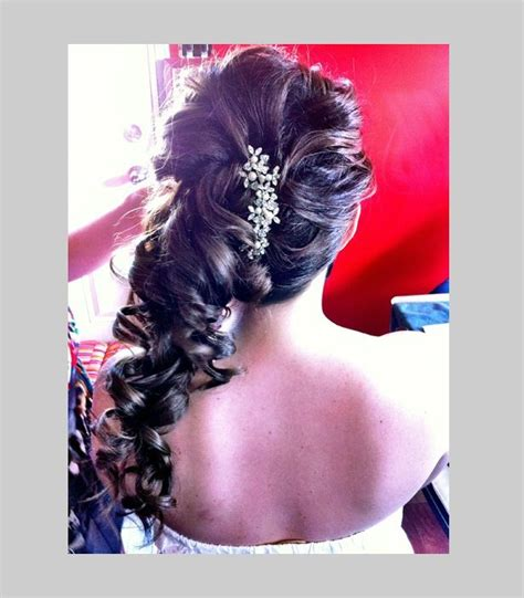 hair for wedding prom curls pin up to one side hair ponytail hairstyles wedding